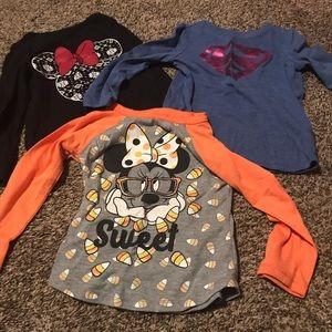 Size 3T girls character shirts